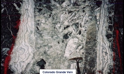 High grade gold vein from Rough Stock's mine scoping study